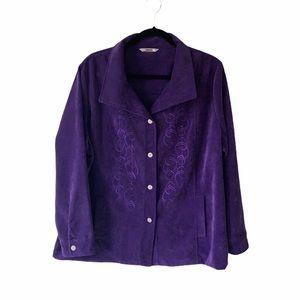 Vintage Alia Purple Embroidered Jacket